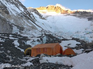 Blick von Lager 2 auf die Lhotse-Flanke