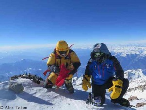 Ali (l.) und Alex (r.) auf dem Gipfel