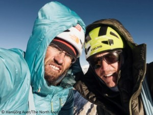 Auer (l.) und Blümel auf dem Gipfel des Gimmigela East