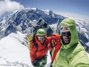 Am Gipfel: Fiegl, Blümel und Auer (v.r.)