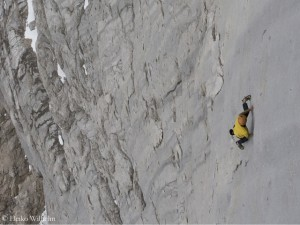 Free Solo in der Marmolada-Südwand
