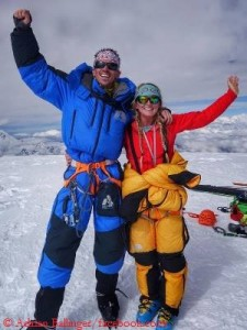 Emily Harrington (r.) und Adrian Ballinger