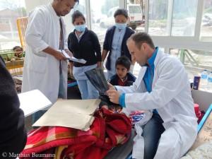 Matthias Baumann im Krankenhaus Dhulikhel