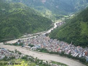Die Stadt Beni am Kali Gandaki