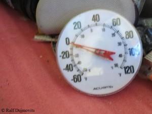 -18 Grad Celsius im Zelt