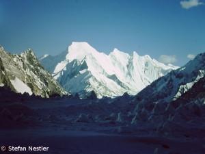 Das beeindruckende Gipfeltrapez der Chogolisa