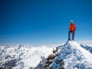 Dani nach seinem Speedrekord auf dem Gipfel des Matterhorns