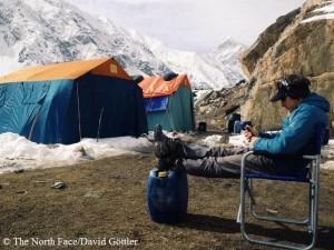 David vor dem Gipfelversuch