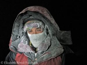 Elisabeth Revol im Lager 4 auf 7000 Metern