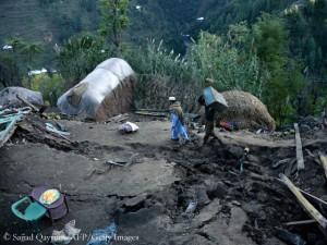 Das Dorf Gandao in Nord-Pakistan