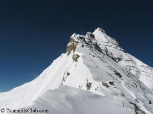 Gipfel des Mount Everest (vom Nordostgrat aus gesehen)