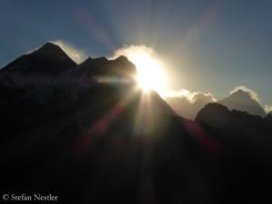 Everest, Lhotse und Makalu (v.l.)