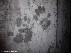 Unsere Handabdrücke auf der Aachener Dommauer