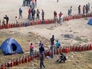 Rationierter Verkauf von Gasflaschen