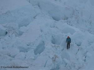 Lawinenträchtiges Eislabyrinth