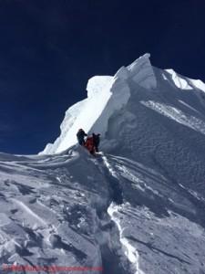 Gefährlicher Gipfelgrat