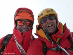 Gipfelselfie von Ramsden und Bullock (r.)