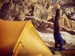 Yoga im Basislager