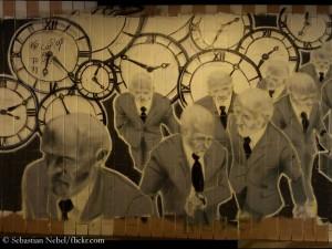 Zeitdiebe (auf einer Graffiti-Wand in Trier)
