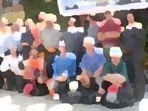 verzerrtes Gruppenbild