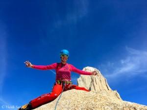 Heidi Sand (im November in Patagonien)