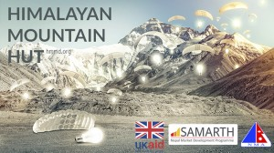 Wettbewerbsplakat für die Himalaya-Berghütte