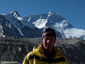 Rupert Hauer auf der Nordseite des Everest