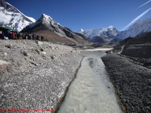 Abflusskanal am Imja-Gletschersee