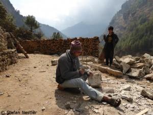 Bauarbeiten im Khumbu