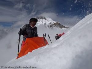 Kuriki auf 6800 Metern in der Everest-Nordwand