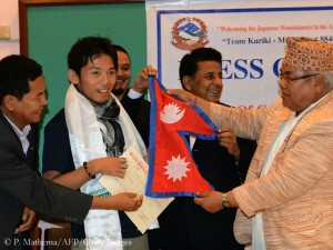 Begeisterung in Nepal um Bergsteiger Kuriki