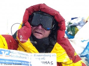Thomas Lämmle auf dem Gipfel des Mont Everest