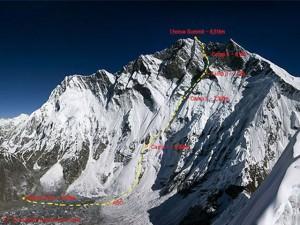 Route durch die Lhotse-Südwand