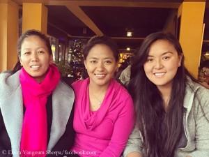 Maya Sherpa, Dawa Yangzum Sherpa, Pasang Lhamu Sherpa Akita (v.l.n.r.)