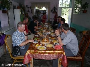 Mittagessen im Privathaus