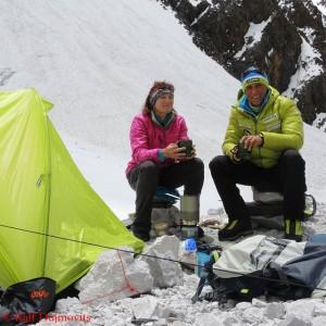 Nancy Hansen (l.) und Ralf Dujmovits
