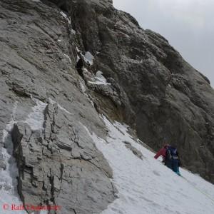 Nancy Hansen auf 6400 Metern am Gasherbrum VI