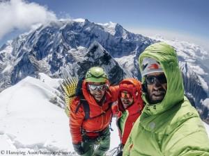 Auf dem Gipfel: Fiegl, Blümel, Auer (v.l.)