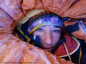 Elisabeth Revol in Lager 2
