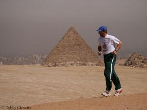"""Robby Clemens bei seinem """"World Run"""" 2007"""
