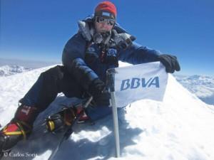 Carlos Soria am Gipfel