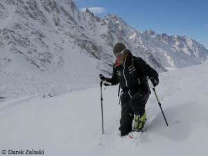 Ralf beim Abstieg von der Messner-Route