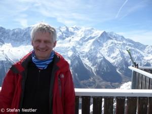 Stefan mit Mont Blanc (r.)