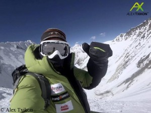 Alex Txikon bei seinem vorherigen Aufstieg bis zum Südsattel