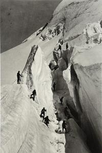 Hisotorisches Foto von 1861: Aufstieg zum Mont Blanc