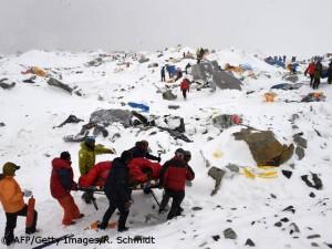 Rettungsaktion im Everest-Basislager
