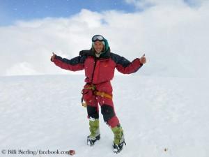 Billi Bierling auf dem Gipfel des Cho Oyu