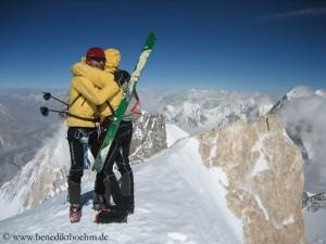 Auf dem Gasherbrum II, ihrem ersten Achttausender