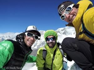 Treffen im Khumbu 2015 (mit Hélias Millerioux, 2.v.r.)