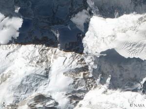 Satellitenaufnahme des Kangchendzönga